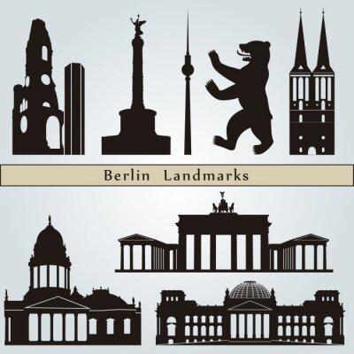 Quadro Marcos e monumentos de Berlim