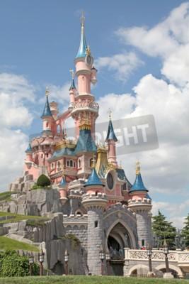 Quadro Marne-la-Vallee, França - 01 de julho de 2011 - O Castelo da Bela Adormecida na Disneylândia Resort Paris.