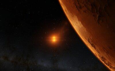 Quadro Mars Ilustração científica - paisagem planetária