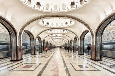 Quadro Mayakovskaya, metro, estação, Moscou, rússia