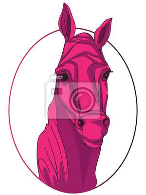 Quadro medalhão cavalo