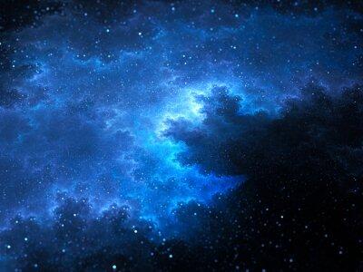 Quadro Megical, espaço, nebulosa, fractal, estrelas