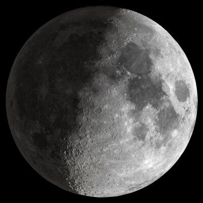 Quadro Meia lua com detalhes nítidos.
