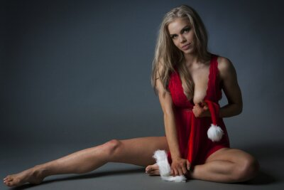 Quadro Menina do Natal