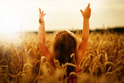 Quadro Menina, trigo