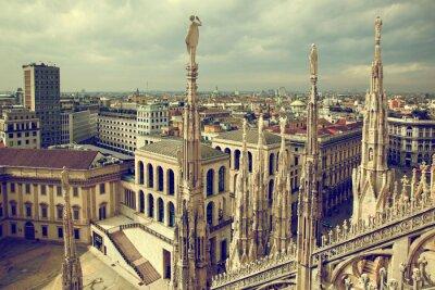 Quadro Milão, Itália. Ver Palácio Real - Palazzo Realle