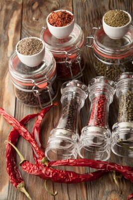 Quadro Mistura de pimentas