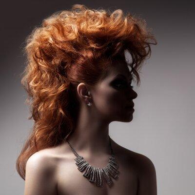 Quadro Moda Retrato de Mulher luxuosa com jóia.