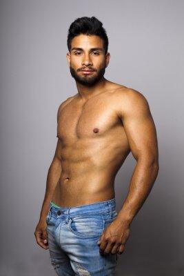 Quadro Modelo masculino musculoso torso desnudo con