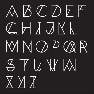 Quadro Moderno alfabeto geométrico