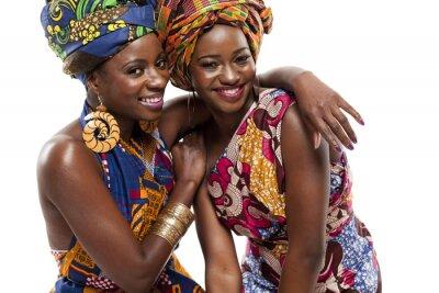 Quadro Modesl moda Africano bonita no vestido tradicional.