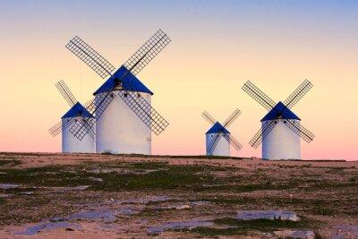 Quadro Moinho de vento em Campo de Criptana, La Mancha, Espanha