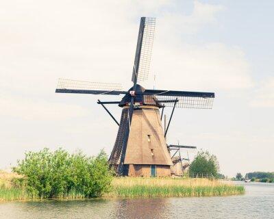 Quadro Moinho de vento tradicional na Holanda