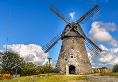 Quadro Moinho de vento velho por dia de verão