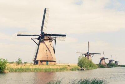 Quadro Moinhos de vento tradicionais em Países Baixos