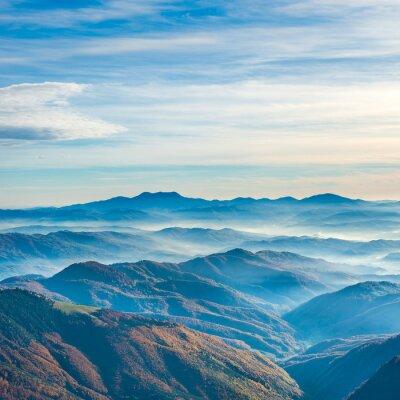 Quadro Montanhas e montanhas azuis bonitas