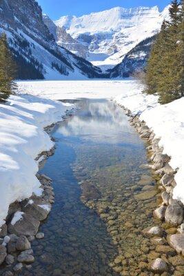Quadro Montanhas e rio