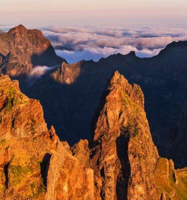 Quadro Montanhas em Madeira
