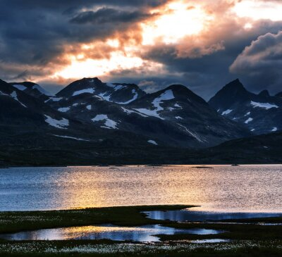 Quadro Montanhas na Noruega