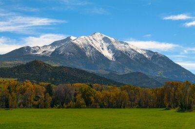 Quadro Monte Sopris Elk Mountains Colorado - Cores da queda