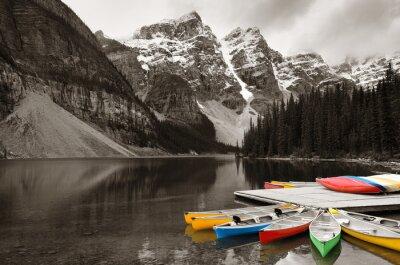 Quadro Moraine Lake barco