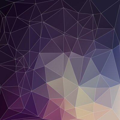Quadro Mosaic Fundo do polígono
