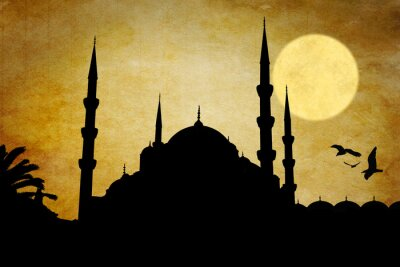 Quadro Moschea silhueta
