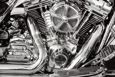 Quadro Motocicleta com peças cromadas