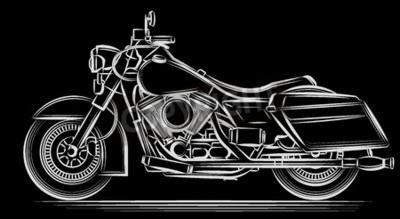 Quadro Motocicleta vetor