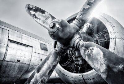 Quadro Motor de um avião