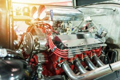 Quadro Motor de um hot rod