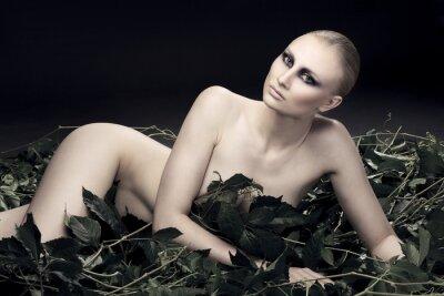 Quadro Mulher do russo apaixonado e sexy de uma bela figura