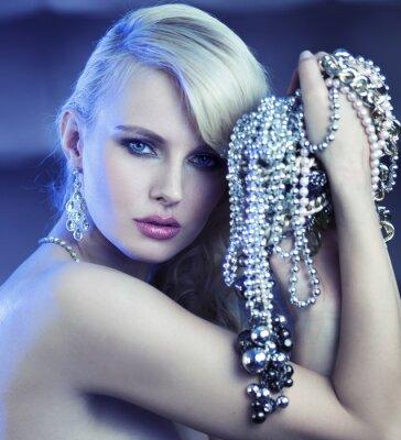 Quadro Mulher Fabulous com buquê de jewelary