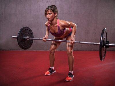 Quadro Mulher Nova Na sessão de fitness