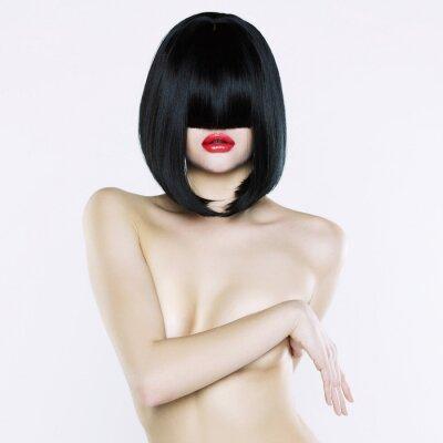 Quadro Mulher nua com penteado curto
