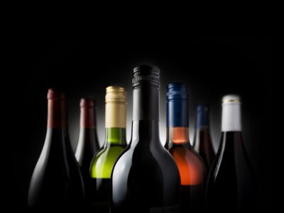 Quadro Multi - garrafas pretas Stock Image