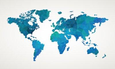 Quadro Mundial mapa ilustração abstrata do vetor padrão