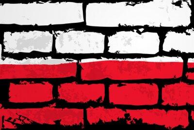 Quadro mur flaga poland wektor