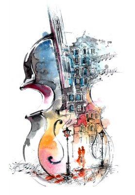 Quadro música e da cidade