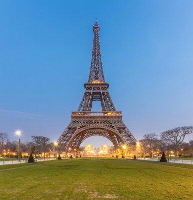 Quadro Nascer do sol da torre Eiffel