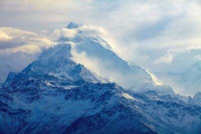 Quadro nascer do sol nas montanhas