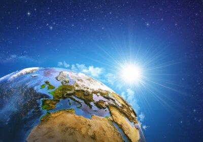 Quadro Nascer do sol sobre a Terra