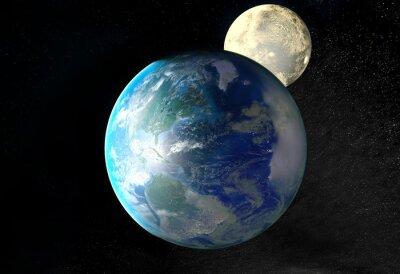 Quadro Nascer do sol sobre a Terra vista do espaço