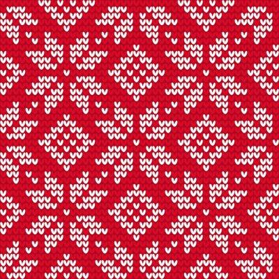 Quadro Natal malha padrão sem emenda