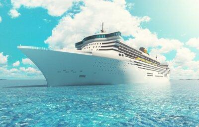 Quadro Nave da crociera em mare vacanza