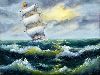 Quadro Navio no oceano