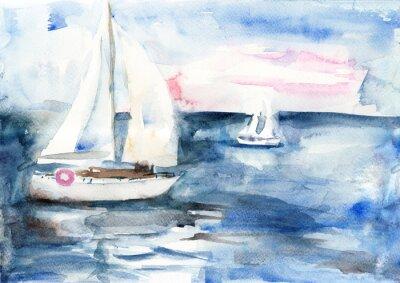 Quadro Navios no mar