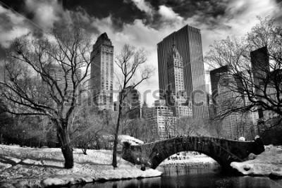 Quadro New York City - Central Park in winter -Gapstow bridge