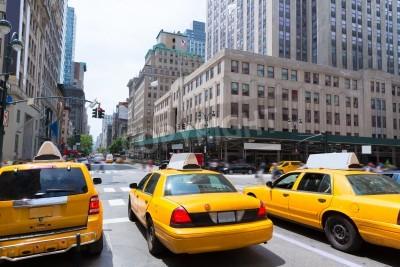 Quadro New York City Manhattan Fifth Avenue 5 Av táxi de táxi amarelo EUA