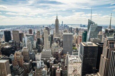 Quadro New York City Manhattan Midtown edifícios vista o horizonte